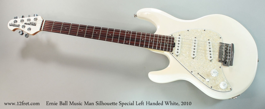 Ernie Ball Music Man Silhouette Special Left Handed White, 2010 Full Front View
