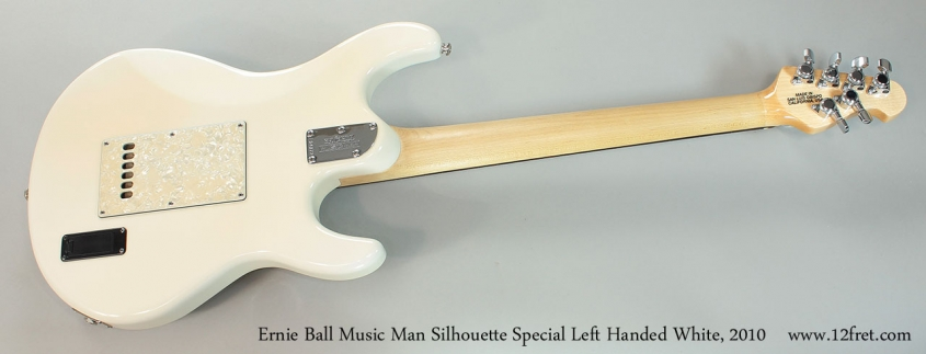 Ernie Ball Music Man Silhouette Special Left Handed White, 2010 Full Rear View
