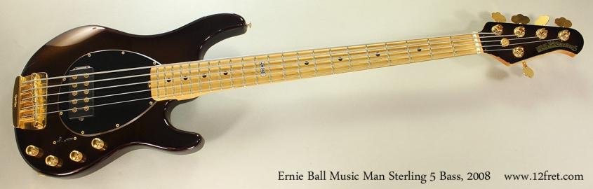 Ernie Ball Music Man Sterling 5 Bass, 2008 Full Front View