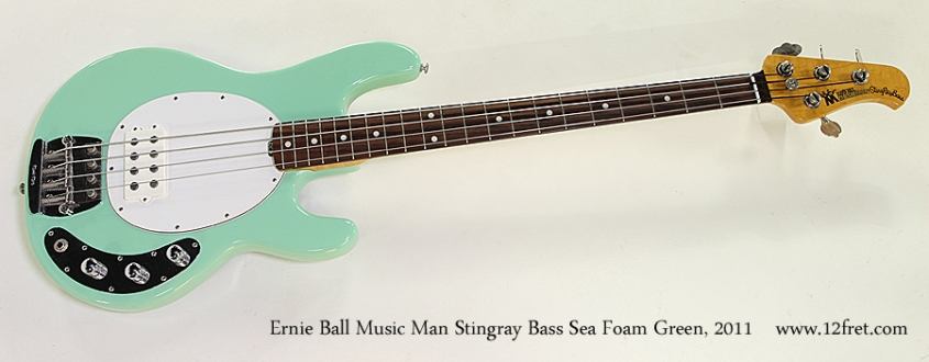 Ernie Ball Music Man Stingray Classic Bass Sea Foam Green, 2011 Full Front View