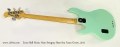 Ernie Ball Music Man Stingray Classic Bass Sea Foam Green, 2011 Full Rear View