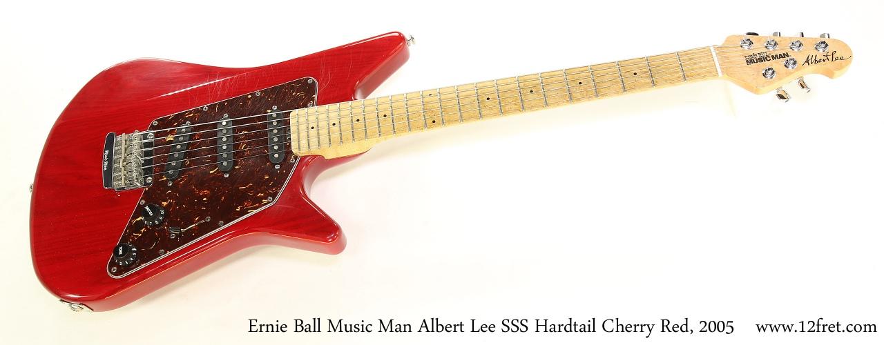 Ernie Ball Music Man Albert Lee SSS Hardtail Cherry Red, 2005   Full Front View