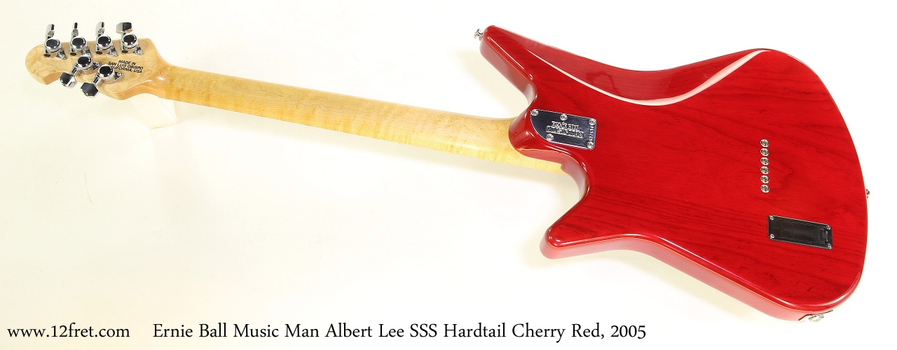 Ernie Ball Music Man Albert Lee SSS Hardtail Cherry Red, 2005   Full Rear View