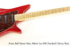 Ernie Ball Music Man Albert Lee SSS Hardtail Cherry Red, 2005   Full Front View