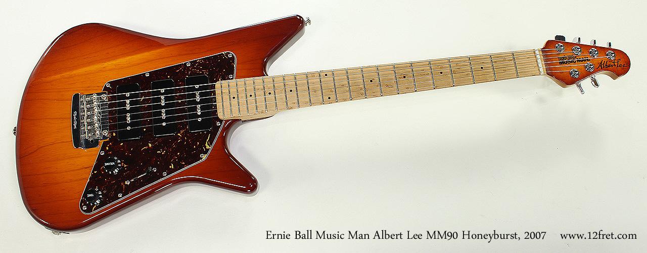 Ernie Ball Music Man Albert Lee MM90 Honeyburst, 2007 Full Front View