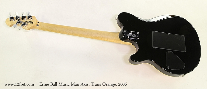 Ernie Ball Music Man Axis, Trans Orange, 2006   Full Rear View