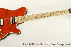 Ernie Ball Music Man Axis, Trans Orange, 2006  Full Front View