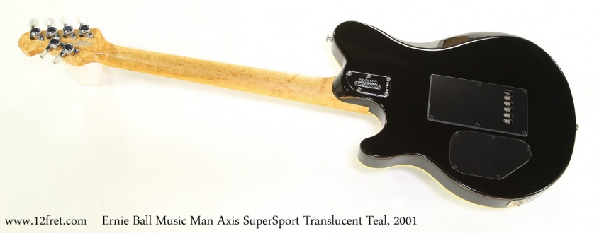 Ernie Ball Music Man Axis SuperSport Translucent Teal, 2001   Full Rear View