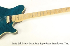 Ernie Ball Music Man Axis SuperSport Translucent Teal, 2001   Full Front View