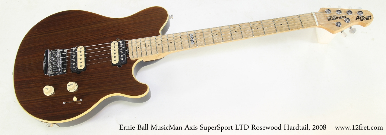 Ernie Ball MusicMan Axis SuperSport LTD Rosewood Hardtail, 2008  Full Front View