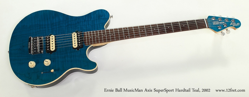 Ernie Ball MusicMan Axis SuperSport Hardtail Teal, 2002 Full Front View