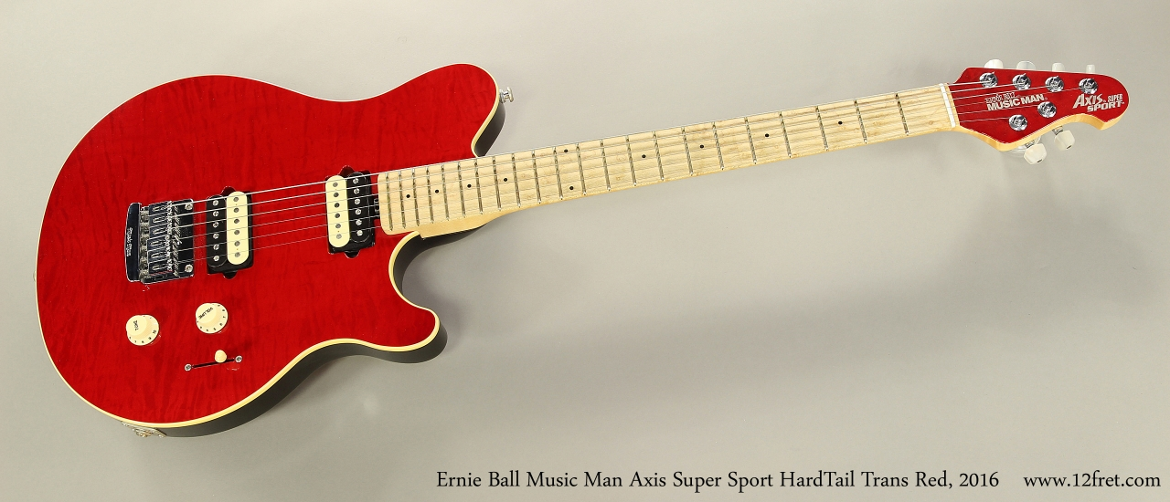 Ernie Ball Music Man Axis Super Sport HardTail Trans Red, 2016 Full Front View