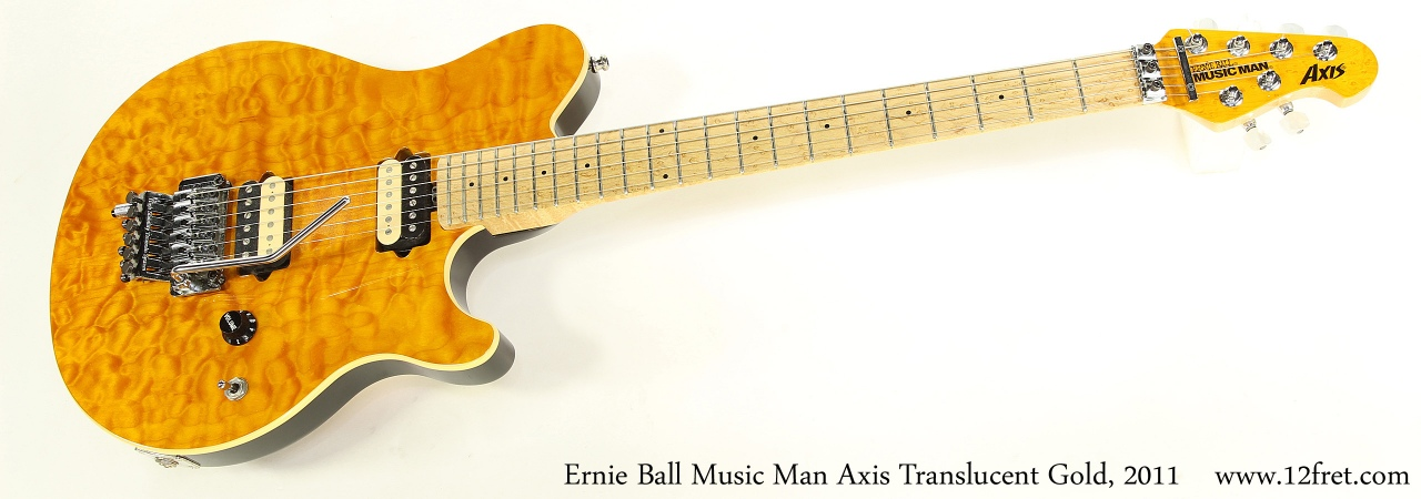 Ernie Ball Music Man Axis Translucent Gold, 2011    Full Front View