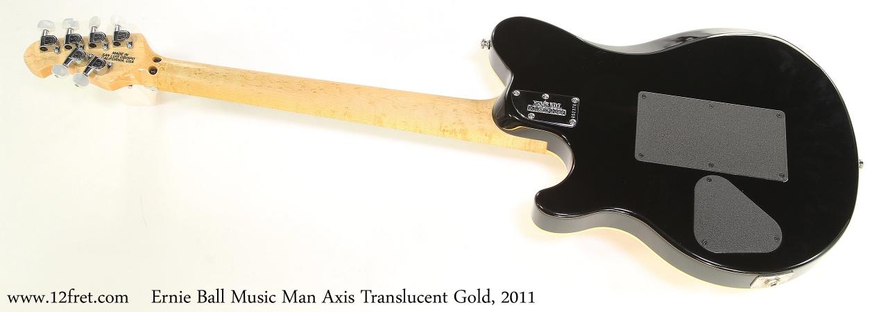 Ernie Ball Music Man Axis Translucent Gold, 2011    Full Rear View