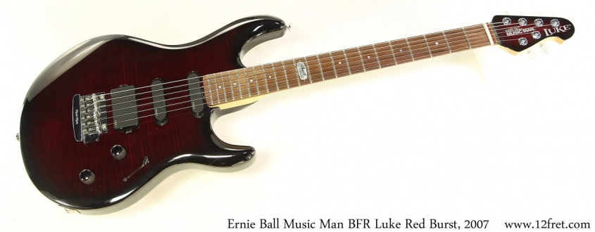 Ernie Ball Music Man BFR Luke Red Burst, 2007 Full Front View