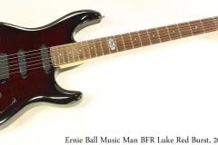 Ernie Ball Music Man BFR Luke Red Burst, 2007 Full Front View