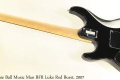 Ernie Ball Music Man BFR Luke Red Burst, 2007 Full Rear View