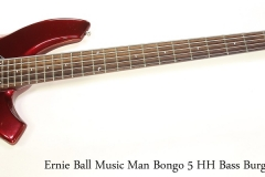 Ernie Ball Music Man Bongo 5 HH Bass Burgundy, 2011    Full Front View