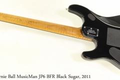 Ernie Ball MusicMan JP6 BFR Black Sugar, 2011 Full Rear View