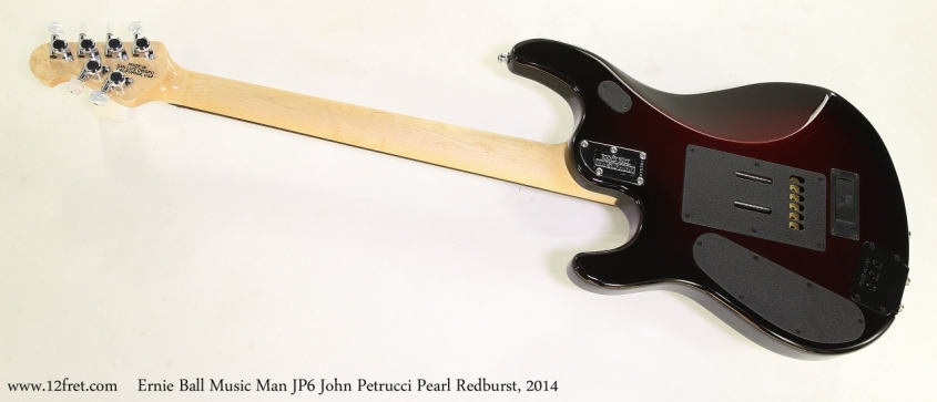 Ernie Ball Music Man JP6 John Petrucci Pearl Redburst, 2014  Full Rear View