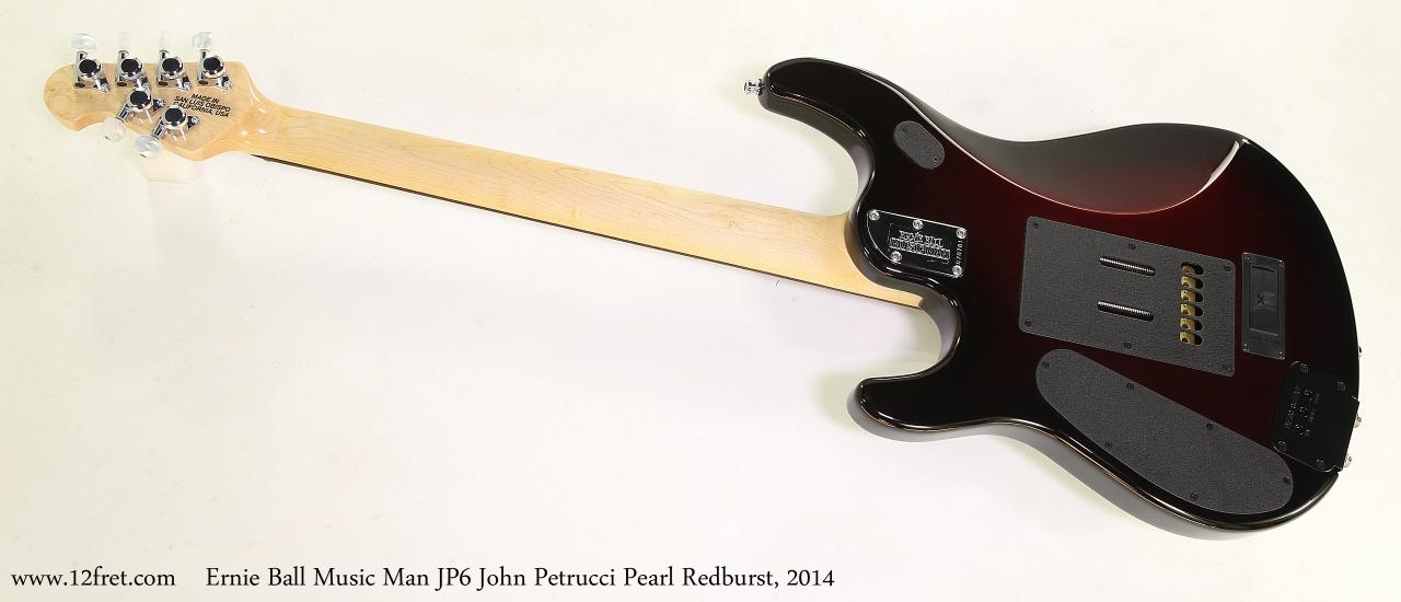 Ernie Ball Music Man JP6 John Petrucci Pearl Redburst, 2014  Full Rear View