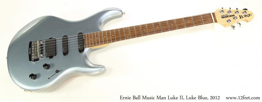 Ernie Ball Music Man Luke II, Luke Blue, 2012 Full Front View