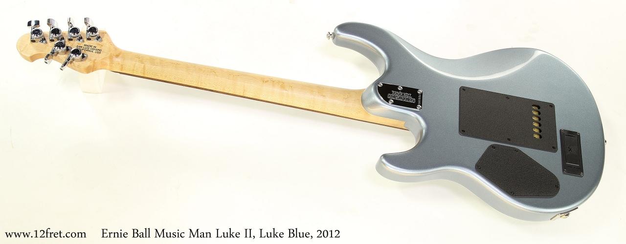Ernie Ball Music Man Luke II, Luke Blue, 2012 Full Rear View
