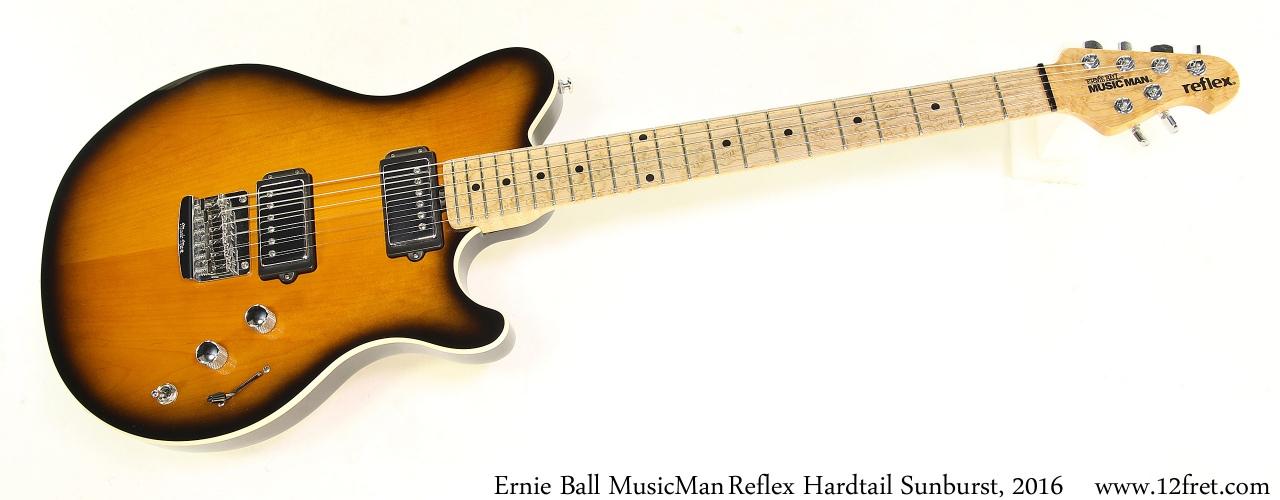 Ernie Ball MusicManReflex Hardtail Sunburst, 2016 Full Front View