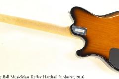 Ernie Ball MusicManReflex Hardtail Sunburst, 2016 Full Rear View