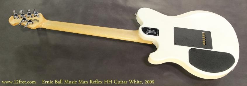 Ernie Ball Music Man Reflex HH Guitar White, 2009   Full Rear View