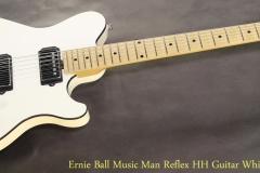 Ernie Ball Music Man Reflex HH Guitar White, 2009   Full  Front View