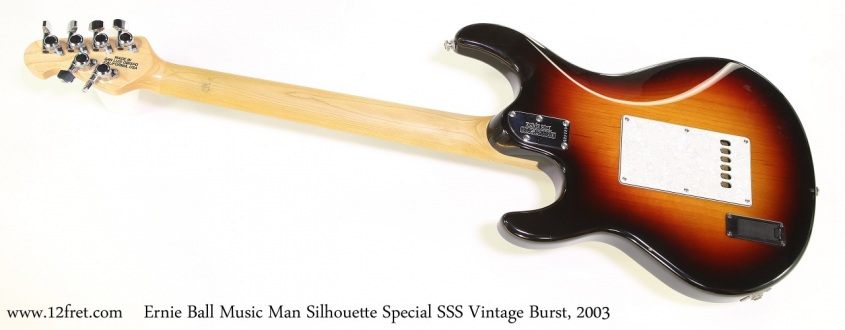 Ernie Ball Music Man Silhouette Special SSS Vintage Burst, 2003 Full Rear View