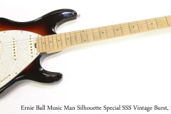 Ernie Ball Music Man Silhouette Special SSS Vintage Burst, 2003 Full Front View