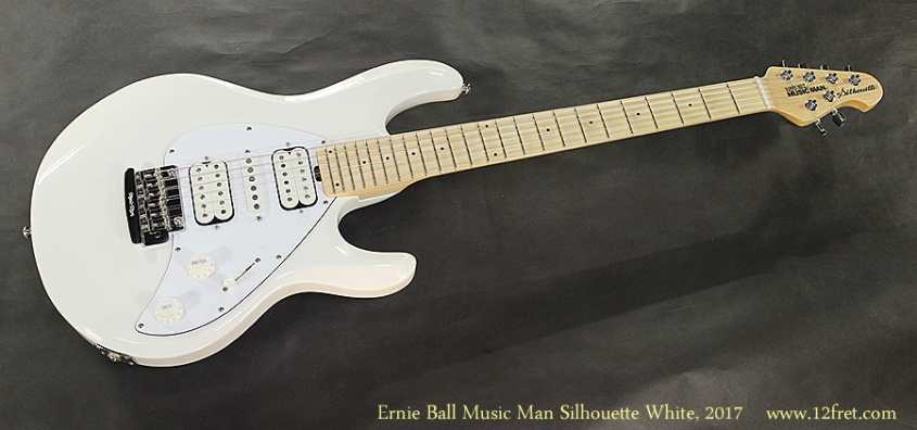 Ernie Ball Music Man Silhouette White, 2017 Full Front View