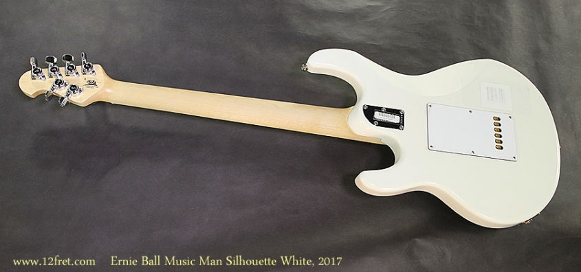 Ernie Ball Music Man Silhouette White, 2017 Full Rear View