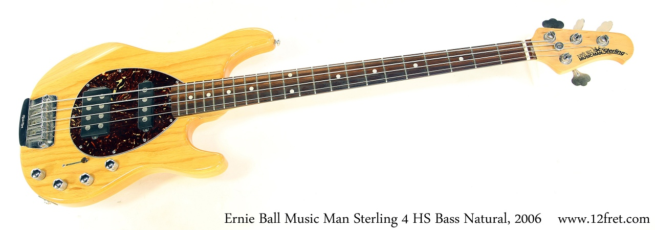 Music Man Sterling 4 HS Bass Natural, 2006 Full Front View