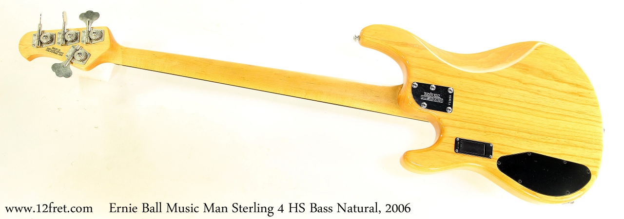 Music Man Sterling 4 HS Bass Natural, 2006 Full Rear View