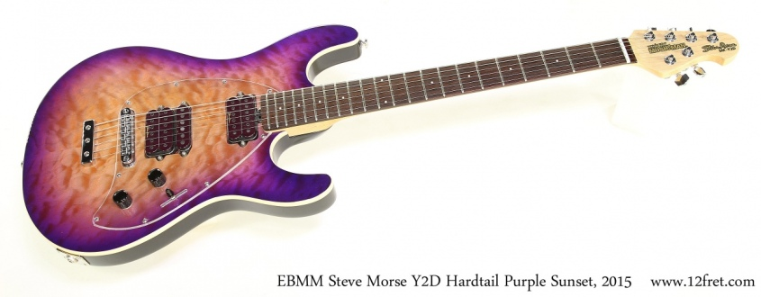 EBMM Steve Morse Y2D Hardtail Purple Sunset, 2015 Full Front View