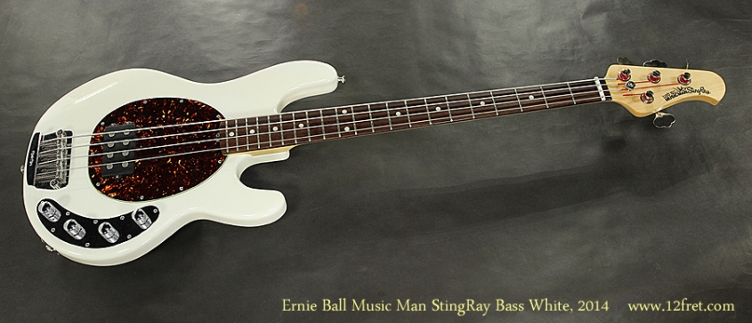 Ernie Ball Music Man StingRay Bass White, 2014 Full Front View