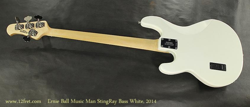 Ernie Ball Music Man StingRay Bass White, 2014 Full Rear View