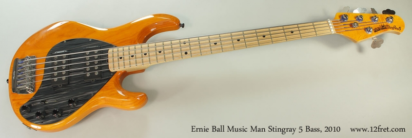 Ernie Ball Music Man Stingray 5 Bass, 2010 Full Front View