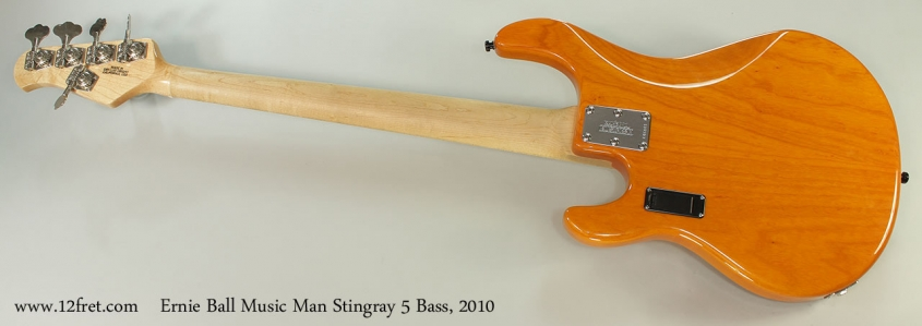 Ernie Ball Music Man Stingray 5 Bass, 2010 Full Rear View