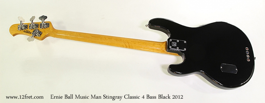 Ernie Ball Music Man Stingray Classic 4 Bass Black 2012 Full Rear View