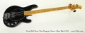 Ernie Ball Music Man Stingray Classic 4 Bass Black 2012 Full Front View