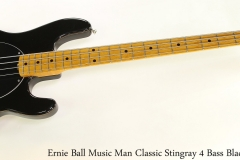 Ernie Ball Music Man Classic Stingray 4 Bass Black, 2010 Full Front View