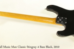 Ernie Ball Music Man Classic Stingray 4 Bass Black, 2010 Full Rear View