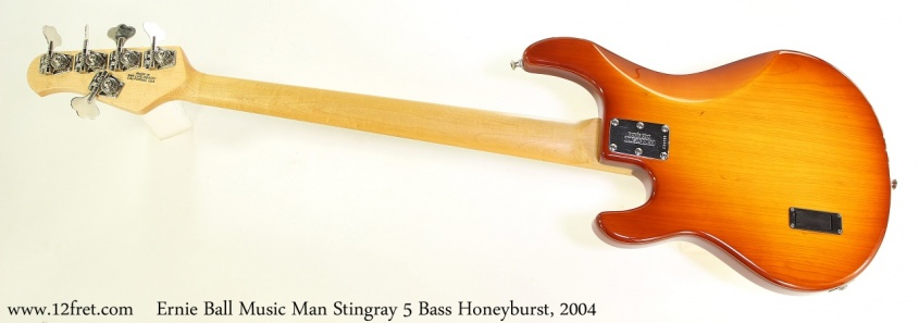 Ernie Ball Music Man Stingray 5 Bass Honeyburst, 2004 Full Rear View