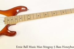 Ernie Ball Music Man Stingray 5 Bass Honeyburst, 2004 Full Front View