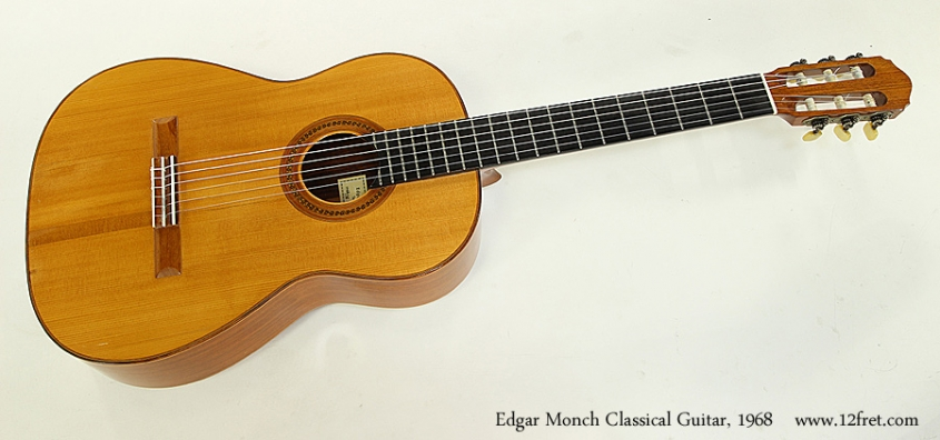 Edgar Monch Classical Guitar, 1968 Full Front View