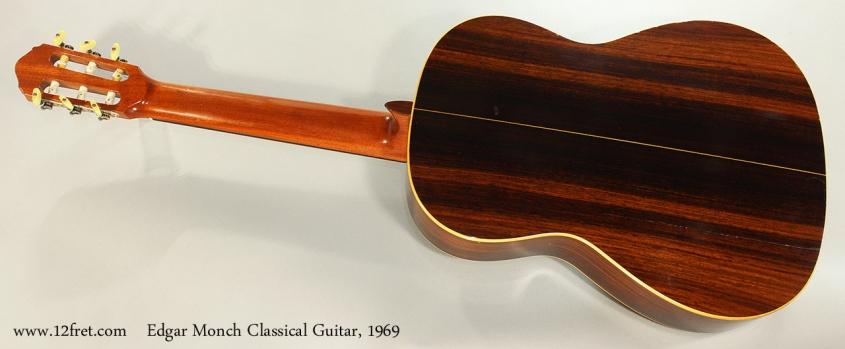 Edgar Monch Classical Guitar, 1969 Full Rear View